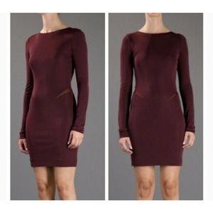 T by Alexander Wang Mesh Inset Knit Sheath Dress